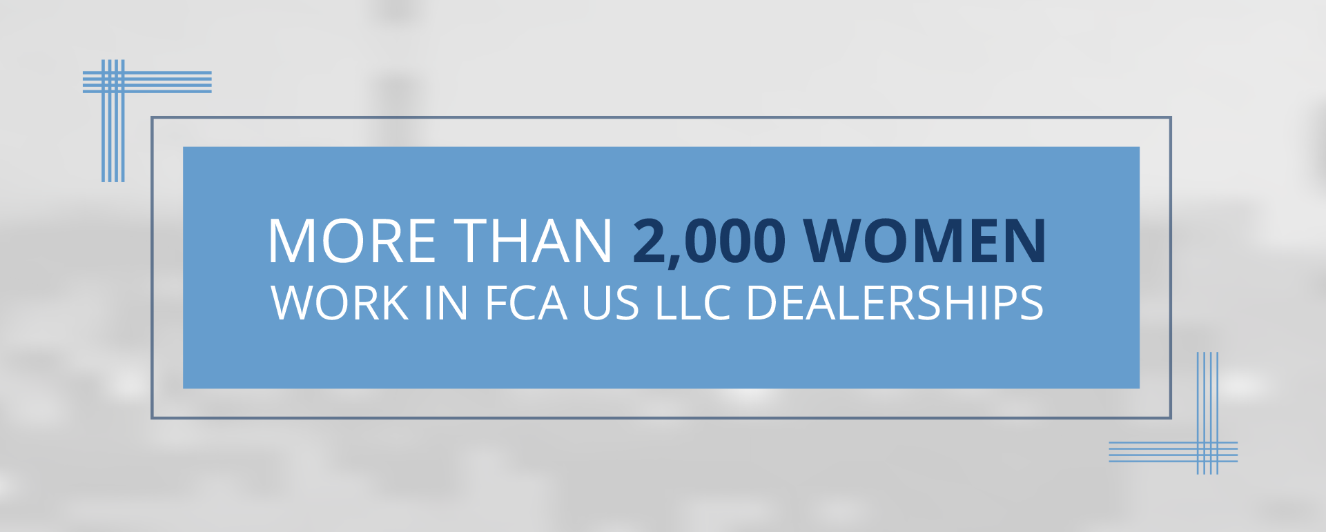 More than 2000 women work in FCA dealerships